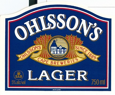 OHLSSON S LAGER. SOUTH AFRICAN BREWERIES - Beer Label Collector Spain